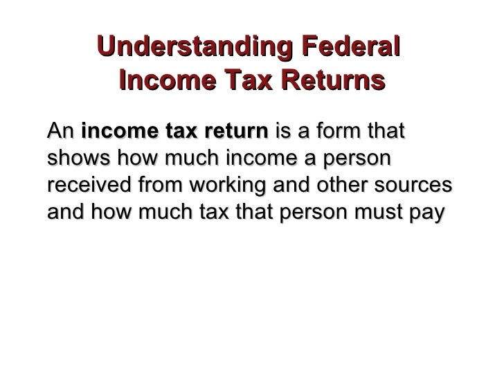 Income tax returns roberts
