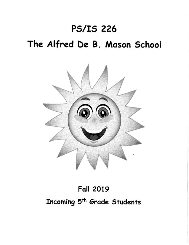 Incoming fifth grade students