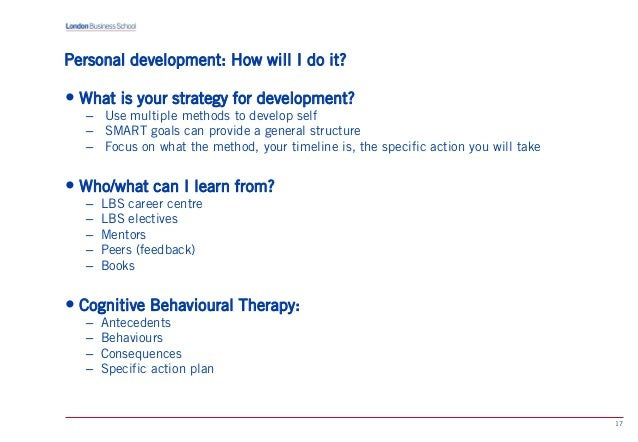 SlideShare  Example Of A Personal Development Plan