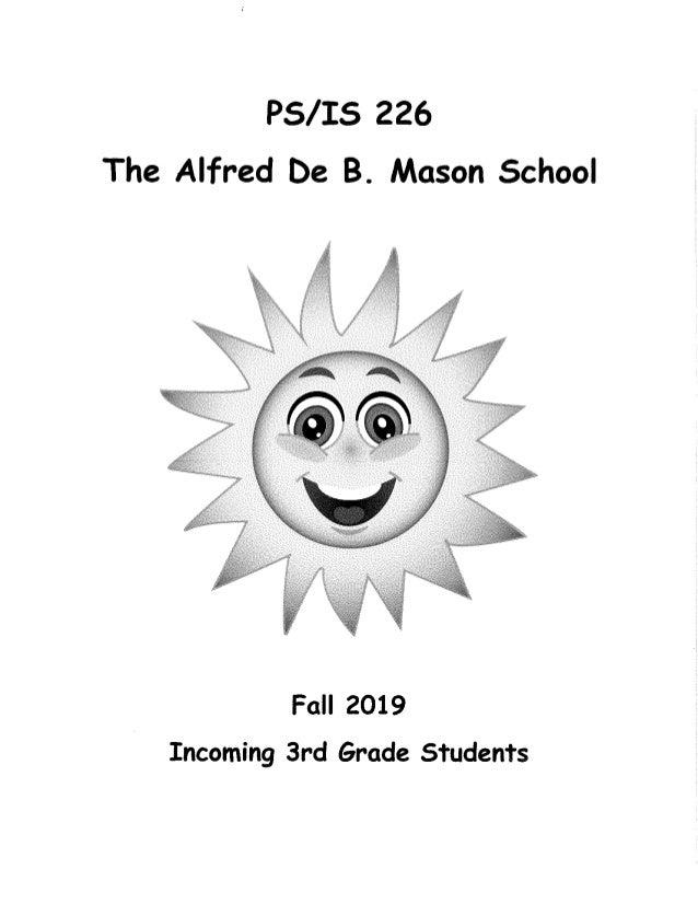 Incoming third grade students