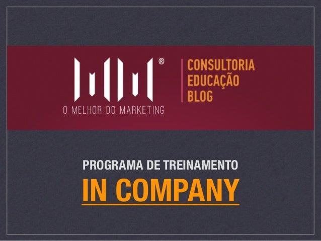 PROGRAMA DE TREINAMENTO IN COMPANY