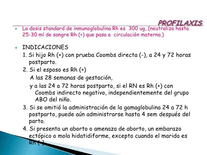 COOMBS Indirecto: Titulación de Ac maternos circulantes anti Rh D