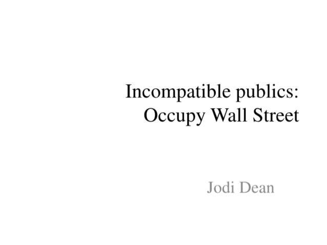 Incompatible publics presentation