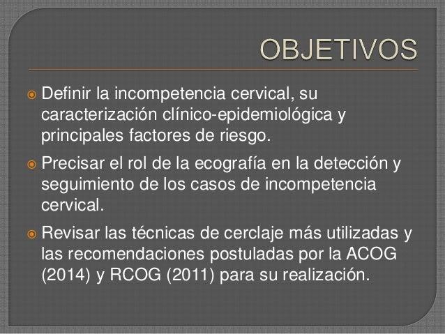 Incompetencia cervical y cerclaje en obstetricia Slide 2