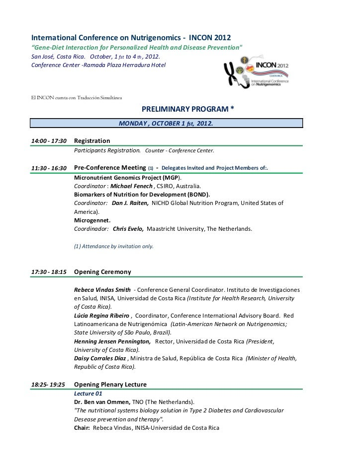 "International Conference on Nutrigenomics - INCON 2012""Gene-Diet Interaction for Personalized Health and Disease Preventio..."