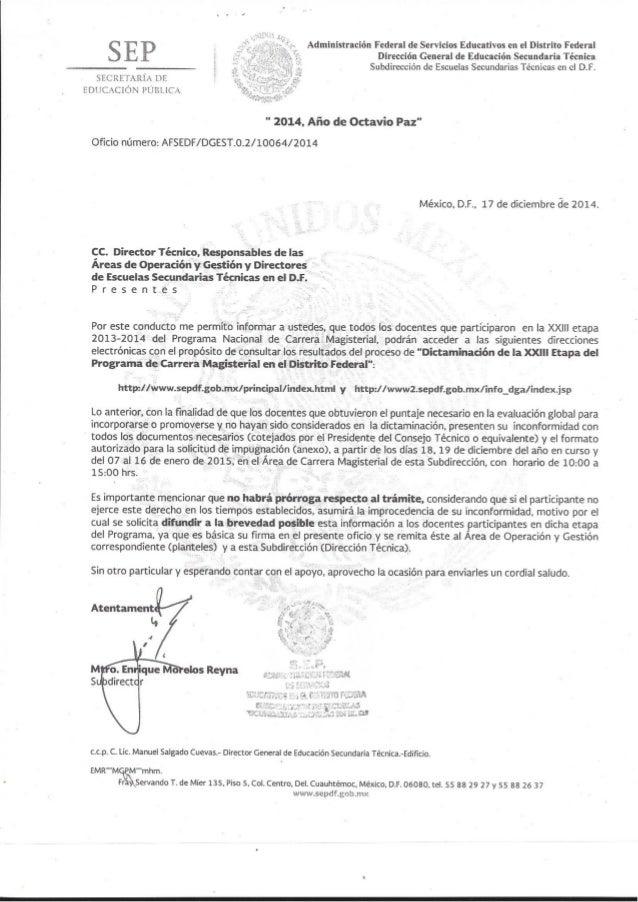 Administración Federal de Servicios Educativos en el Distrito Federal Dirección General de Educación Secundaria Técnica Su...