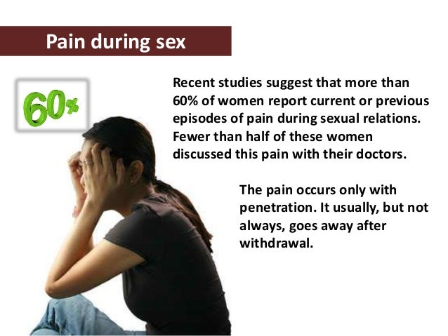 How to ease pain during sex