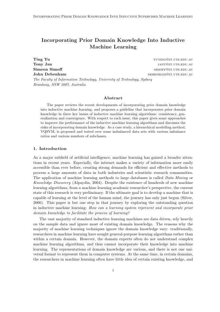Incorporating Prior Domain Knowledge Into Inductive Supervised Machine Learning         Incorporating Prior Domain Knowled...