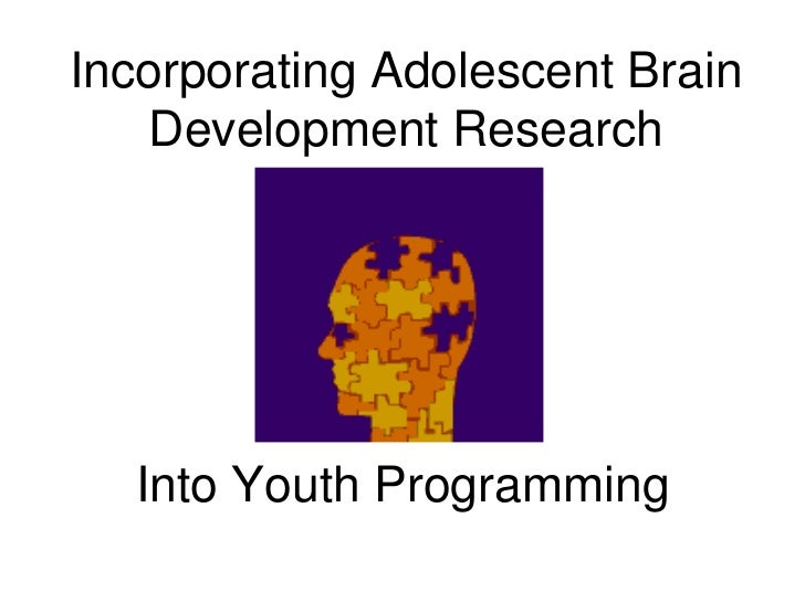 Incorporating Adolescent Brain   Development Research  Into Youth Programming
