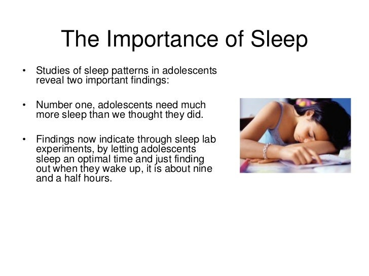 Why is sleep important teens