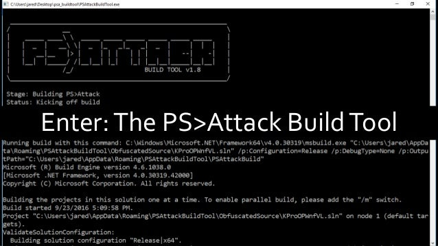 Incorporating PowerShell into your Arsenal with PS>Attack