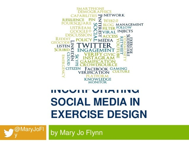INCORPORATING SOCIAL MEDIA IN EXERCISE DESIGN @MaryJoFl y  by Mary Jo Flynn