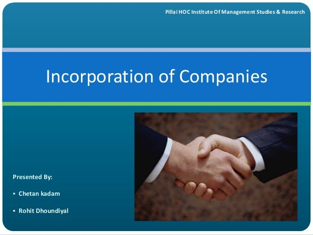 incorporation of company A delaware corporation is considered to exist when its certificate of incorporation has been filed with the secretary of state generally, the certificate is brief because very few items must be covered in the certificate to make it effective.