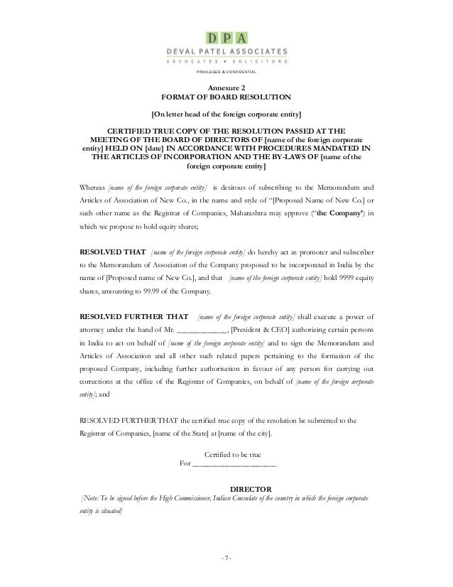 Memorandum Of Incorporation Template - Apigram.Com