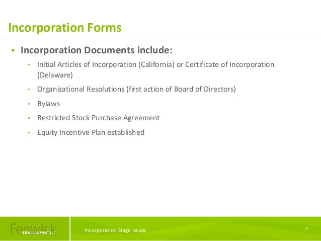 Incorporation Stage Issues And Seed Financings Overview W Kristine D