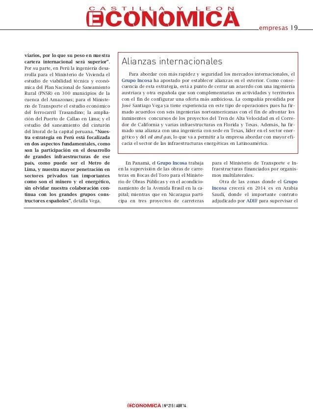 Incosa en Castilla y León Económica Slide 2