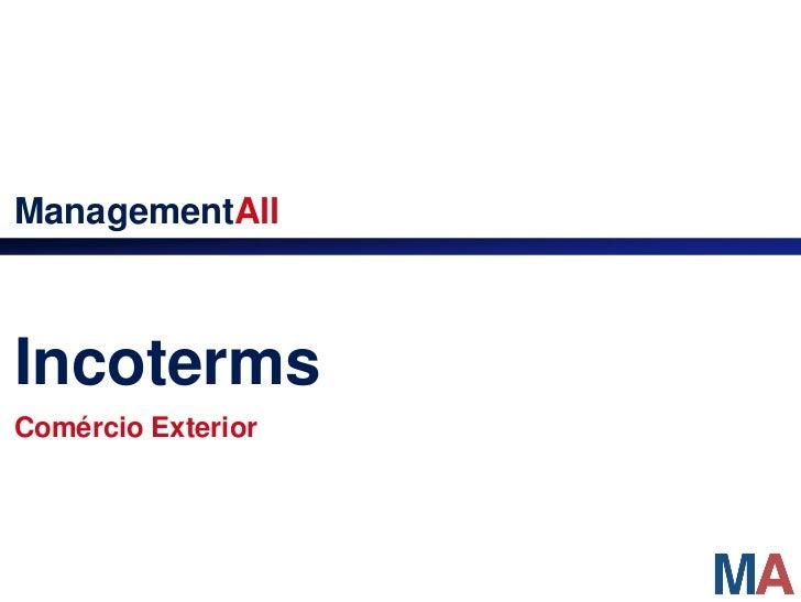 ManagementAllIncotermsComércio Exterior