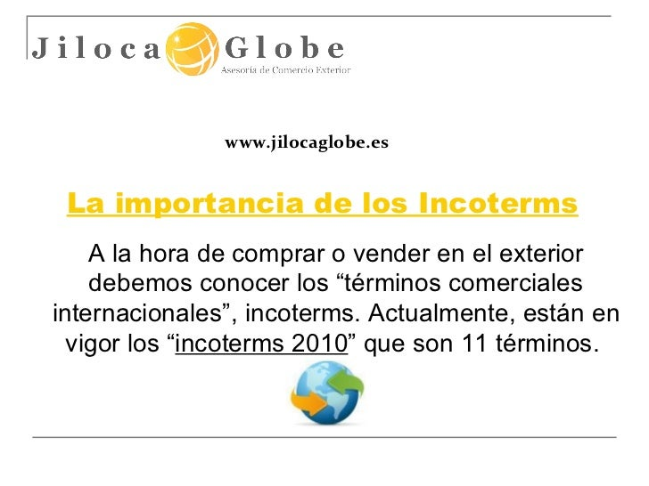 Incoterms 2010 - Jiloca Globe