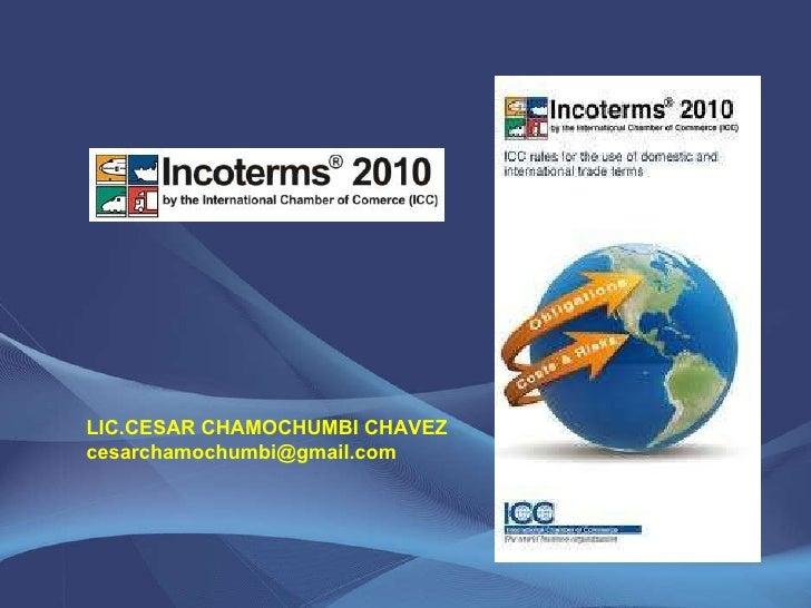 LIC.CESAR CHAMOCHUMBI CHAVEZ [email_address]