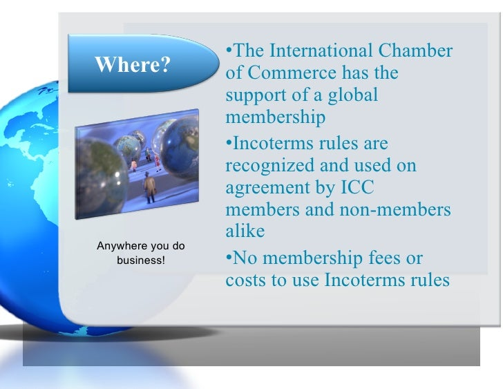 incoterms international trade and inland waterway Definition of incoterms: a set of 11 international standard trade terms which last version is incoterms 2010 incoterms only for sea and inland waterway transport.
