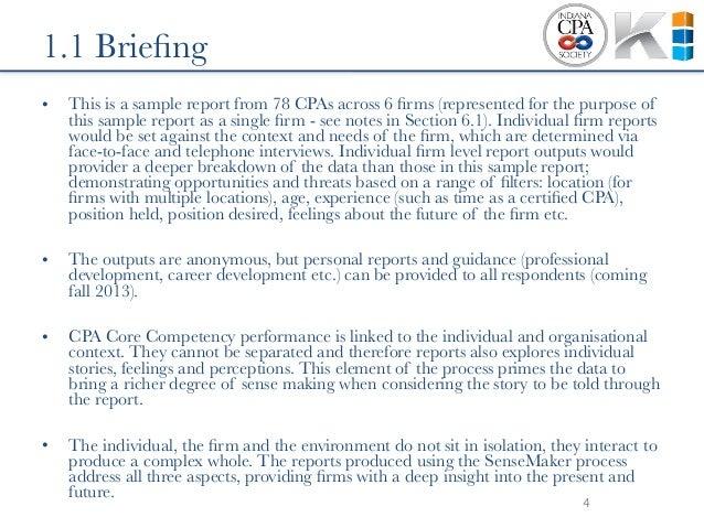 intelligence briefing format