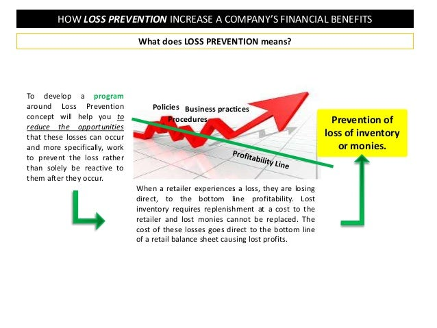 HOW LOSS PREVENTION INCREASE A COMPANY'S FINANCIAL BENEFITS To develop a program around Loss Prevention concept will help ...