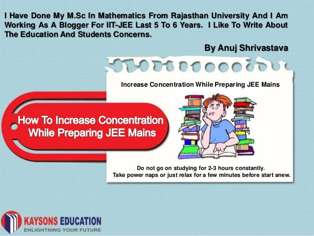Increase concentration while preparing jee mains