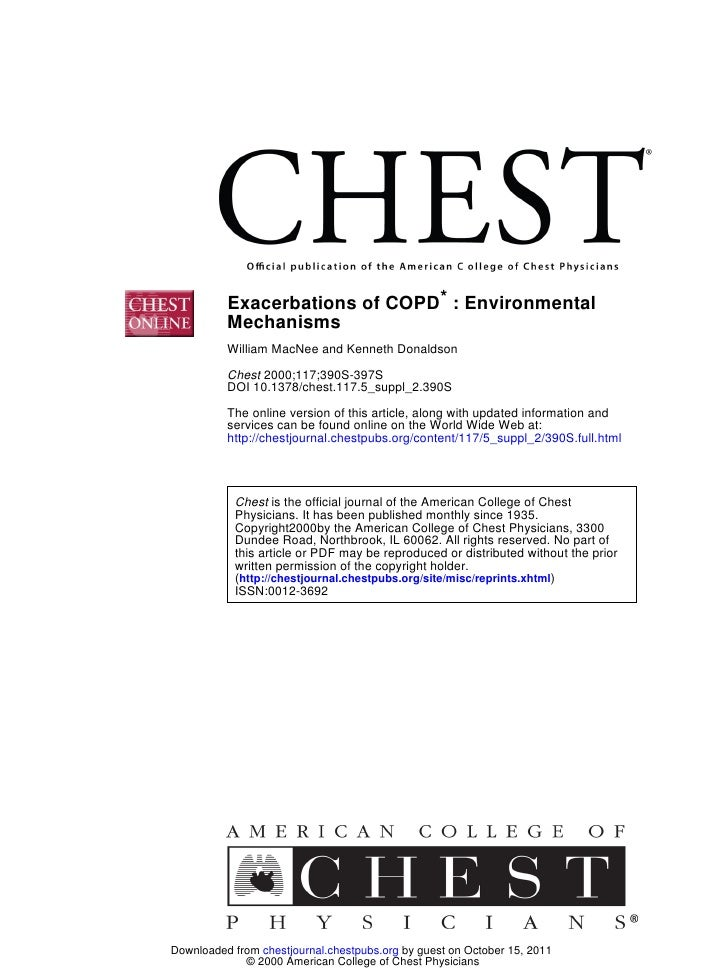 Exacerbations of COPD* : Environmental          Mechanisms          William MacNee and Kenneth Donaldson          Chest 20...