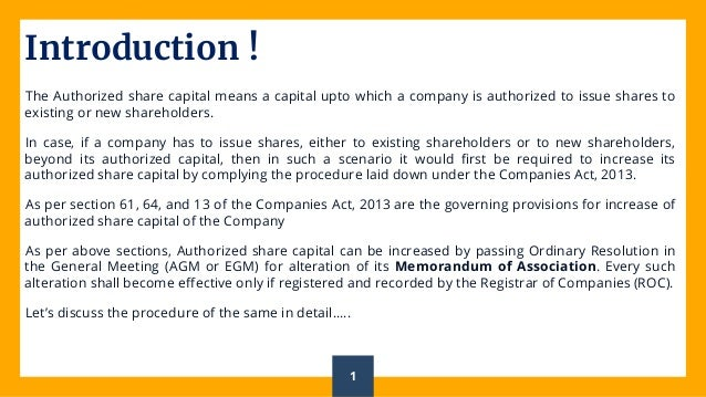 Change in Authorised Share Capital A Step Toward Future Expansion Slide 2
