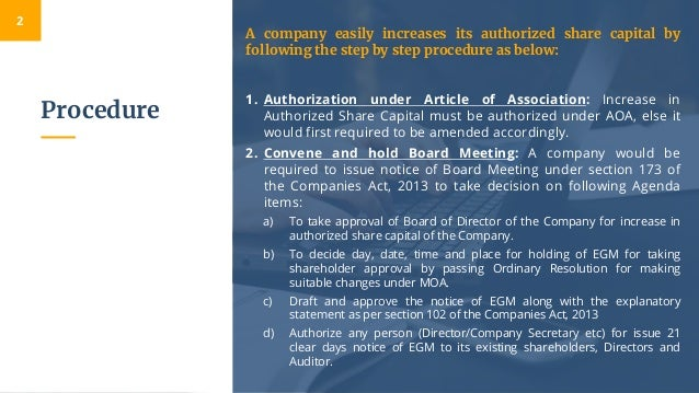 Change in Authorised Share Capital A Step Toward Future Expansion Slide 3