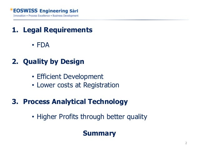 Increase profit with process analytical technology eoswiss engineering  slideshare Slide 2