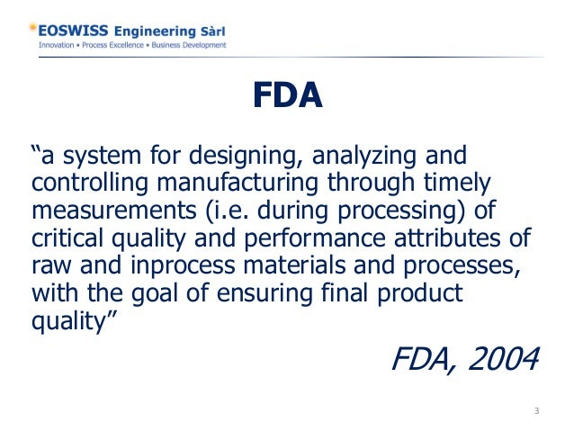 Increase profit with process analytical technology eoswiss engineering  slideshare Slide 3