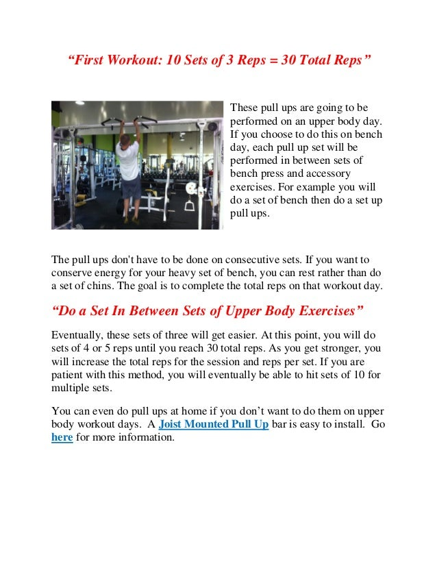 Increase pull up reps