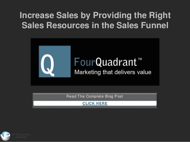 Read The Complete Blog PostCLICK HEREIncrease Sales by Providing the RightSales Resources in the Sales Funnel