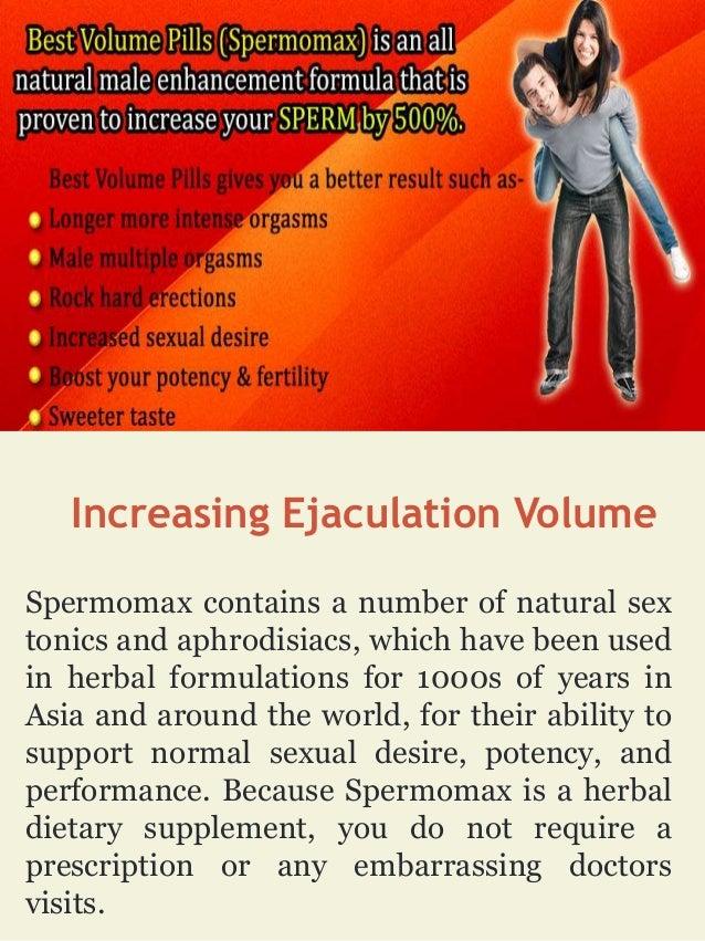 How increase ejaculate volume