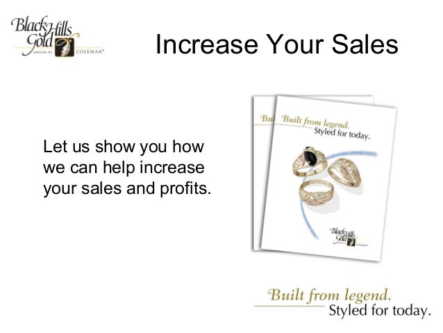 Increase Your SalesLet us show you howwe can help increaseyour sales and profits.