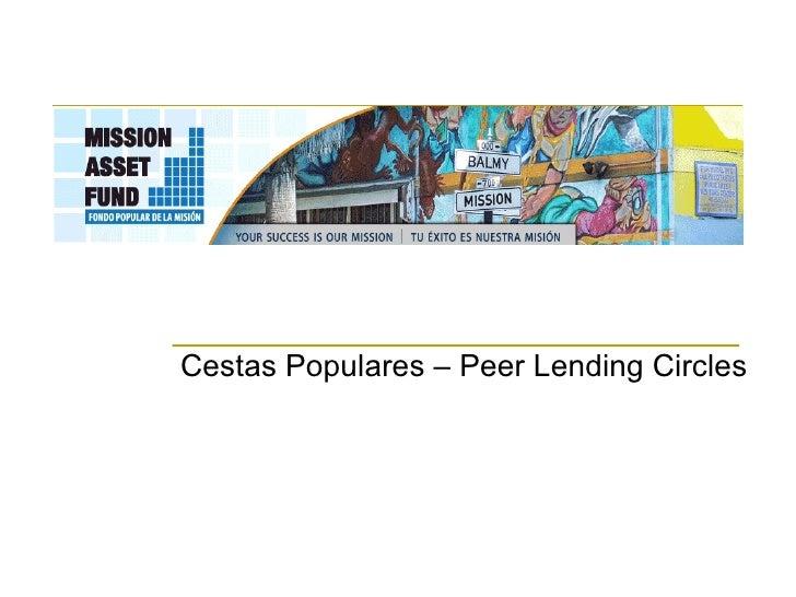 Cestas Populares – Peer Lending Circles