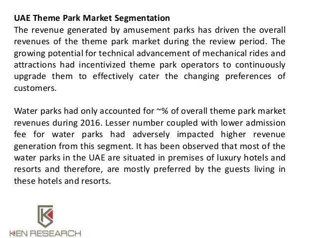 market segmentation on theme park Woodlands family theme park june 2018 – present (2 months) totnes   this task gave me experience in market segmentation, product design and consultation,.