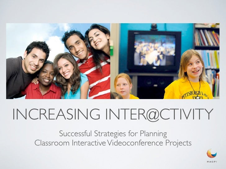 INCREASING INTER@CTIVITY         Successful Strategies for Planning  Classroom Interactive Videoconference Projects