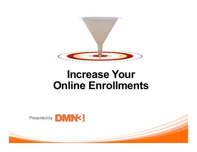 Presented byIncrease YourOnline Enrollments