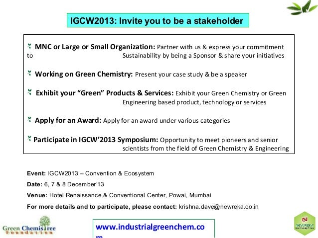 Increasing profitability with green chemistry (chemspec asia