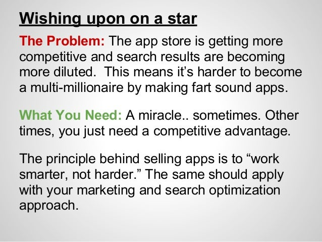 Increasing sales with iOS app store optimization Slide 2
