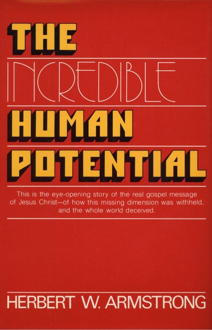 Incredible human potential (prelim 1978)