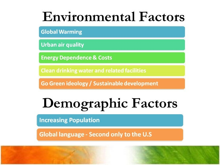 Environmental factors affecting the hotel industry