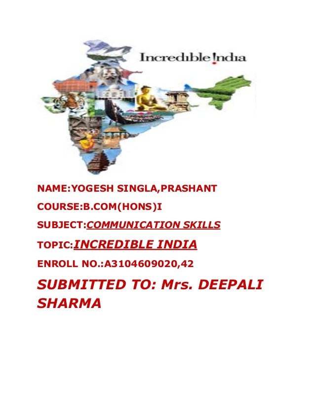 essay about incredible india