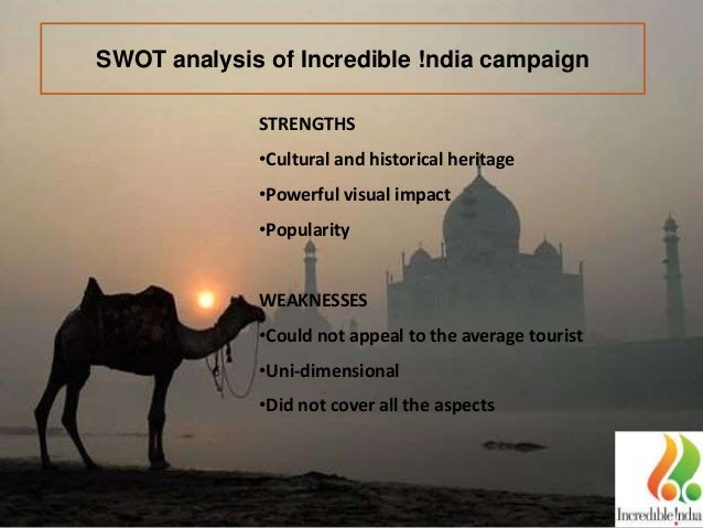 Swot analysis for incredible india campaign