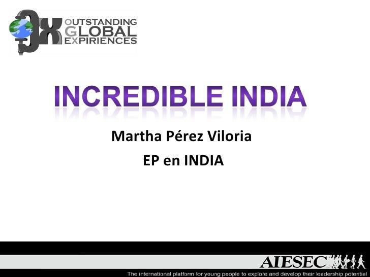 Martha Pérez Viloria  EP en INDIA