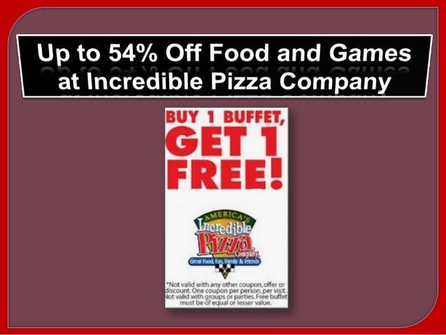 photograph regarding John Incredible Pizza Printable Coupons called Unbelievable pizza discount codes