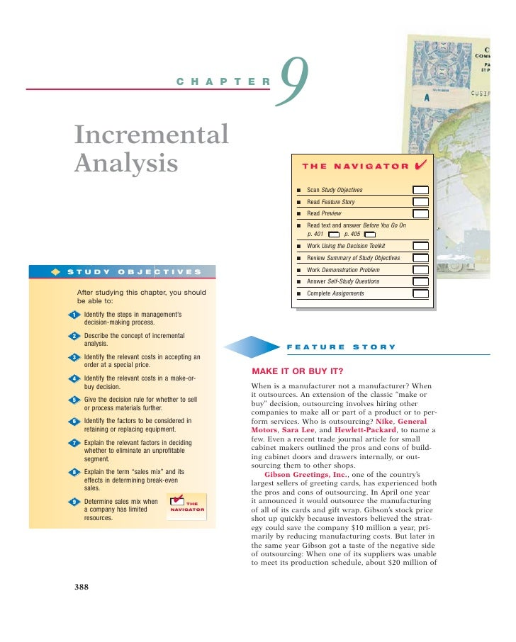 C H A P T E R                                                                  9      Incremental      Analysis           ...