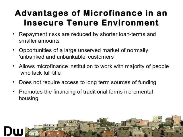 Housing microfinance case study